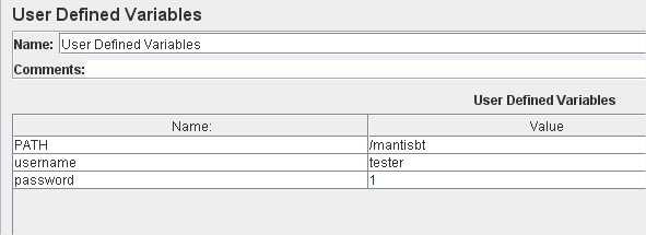 JMeter scripting- user defined variables