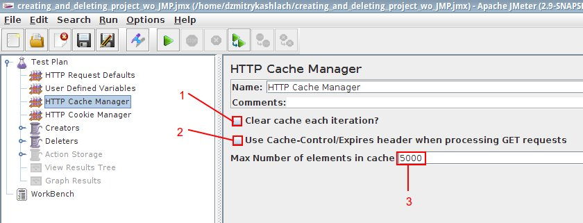 HTTP Cache Manager BlazeMeter and JMeter