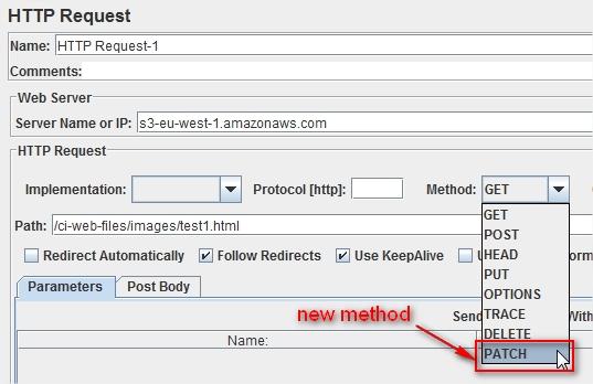 JMeter 2.8 HTTP Request Sample