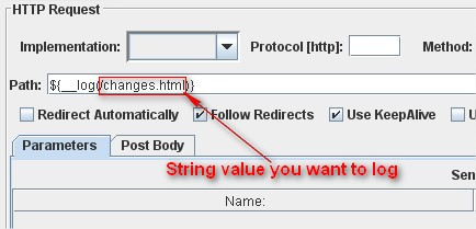 JMeter Functions: log function