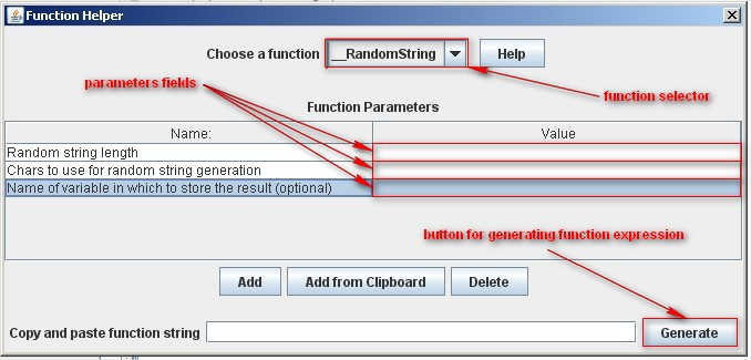 JMeter Functions: function helper  JMeter 2.6