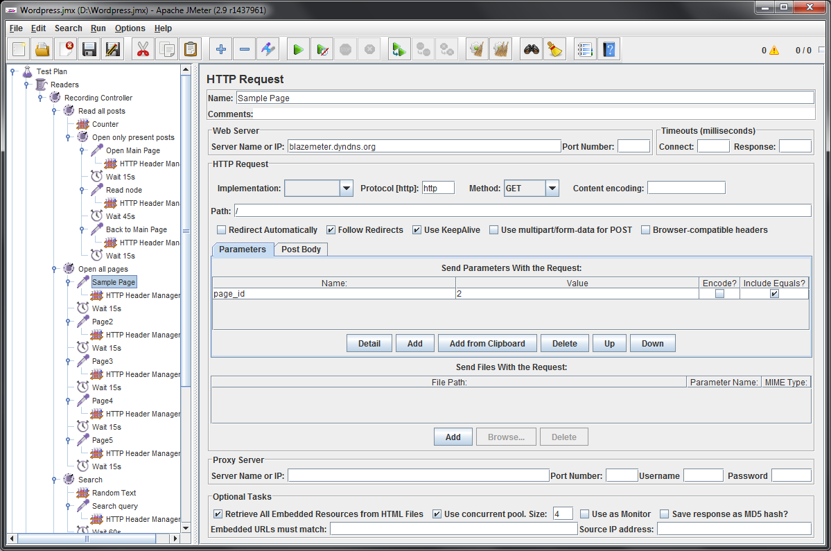 Creation of the Load Script with BlazeMeter and JMeter