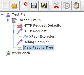 View Results Tree is ready for us to debug our Xpath query.