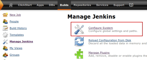 Configure your system