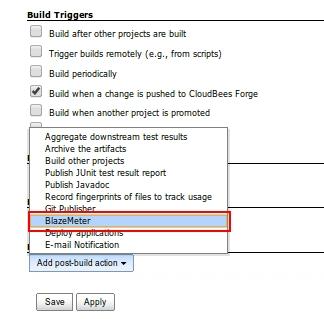 Add BlazeMeter task