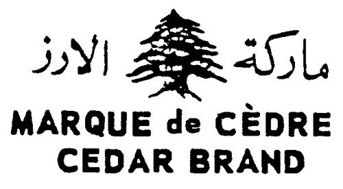 MARQUE DE CÈDRE - CEDAR BRAND et dessin