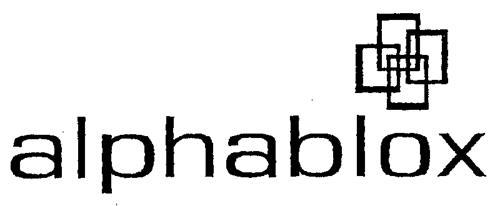ALPHABLOX CORPORATION (A Delaw
