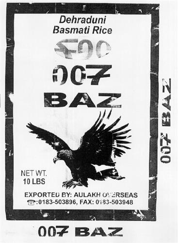 007 BAZ BASMATI RICE & Design