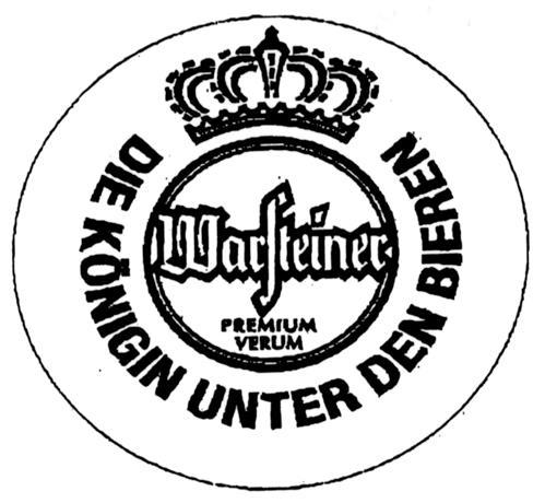 WARSTEINER PREMIUM VERUM DIE KONIGIN UNTER DEN BIEREN & Design