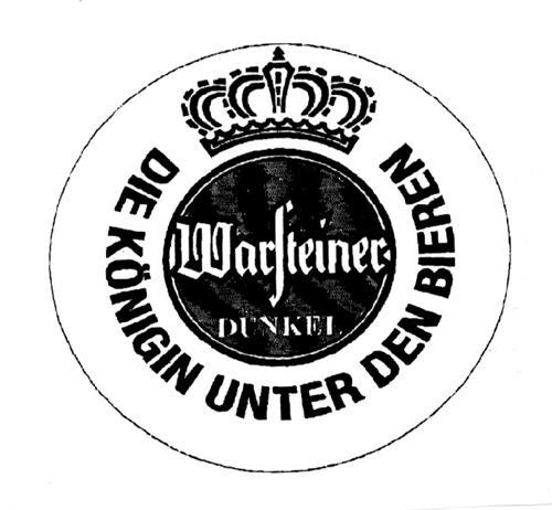WARSTEINER DUNKEL DIE KONIGIN UNTER DEN BIEREN & Design