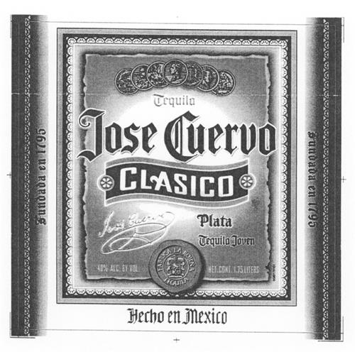 JOSE CUERVO CLASICO LABEL Design (in color)
