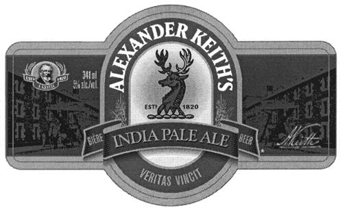 ALEXANDER KEITH'S INDIA PALE ALE & Design