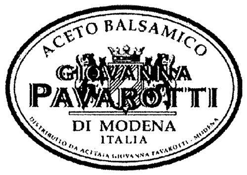 ACETO BALSAMICO GIOVANNA PAVAROTTI DI MODENA ITALIA & Design