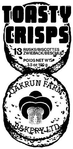 OAKRUN FARM BAKERY LTD.,