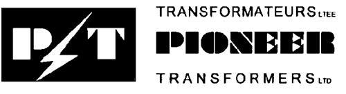 TRANSFORMATEURS PIONEER LTEE./