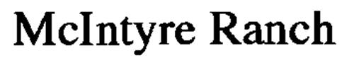 MCINTYRE RANCHING CO. LTD.,
