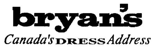 BRYAN'S FASHIONS LTD.,
