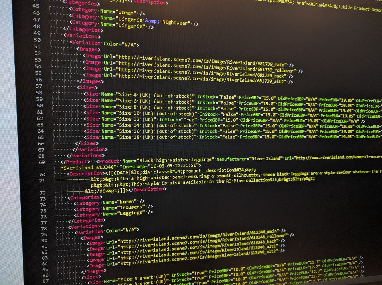 channelape xml inventory feed