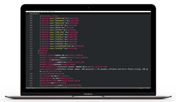 Turn XML Code into Products ecommerce