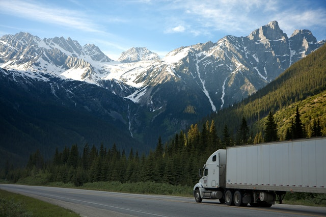 3PL Fulfillment truck road mountain