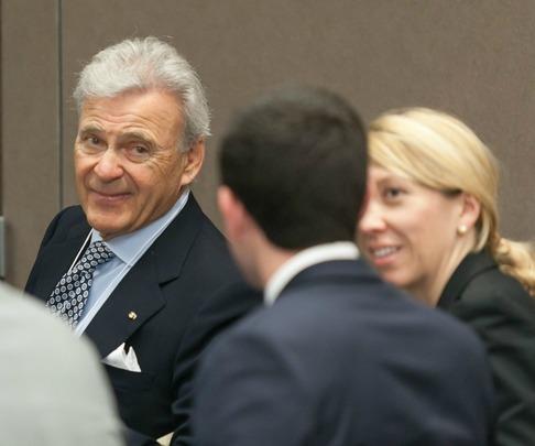 Ambassador Stuart Bernstein and Davis Public Diplomacy Fellow Monica Damberg-Ott