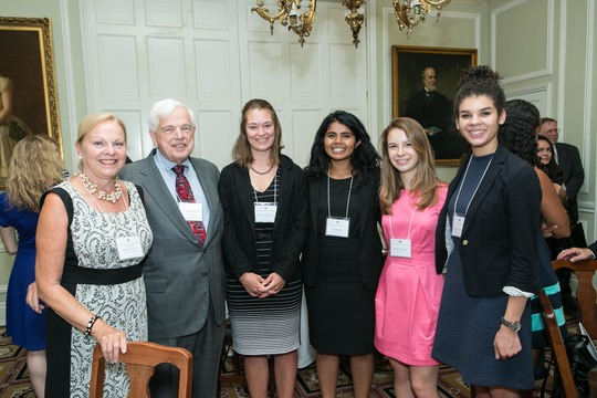 Ambassador Laurie Fulton, Ambassador Donald Bliss, Alumni Fellow Rebecca Braun, Class of 2016 Fellows Sri Muppidi, Madeline Bauer and Olivia Harris