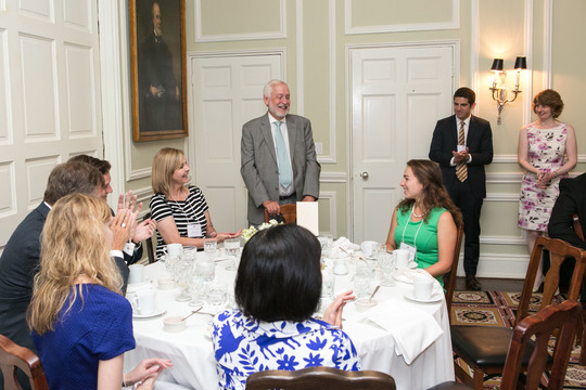 CAA President Ambassador Timothy A. Chorba addresses the graduates and luncheon guests