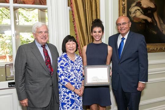 Ambassador Donald Bliss, Ambassador Julia Chang Bloch, Olivia Harris, Ambassador Abelardo L. Valdez