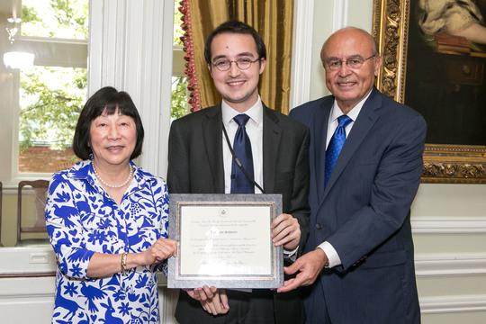Ambassador Julia Chang Bloch, Benjamin Schwartz, Ambassador Abelardo L. Valdez