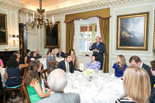 Ambassador Abelardo L. Valdez addresses the Fellows and graduation luncheon guests