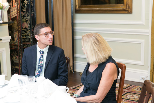 Luis Calvo speaks with Ambassador Laurie Fulton