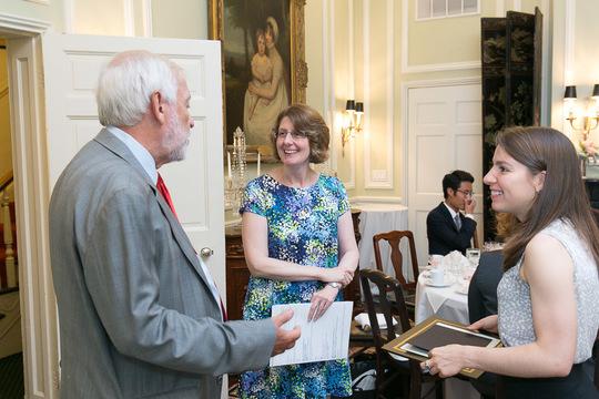 Caitlin Quinn chats with Ambassador Chorba and CAA Exec Director Carolyn Gretzinger