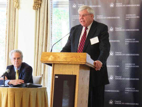 Ambassador Richard McCormack introduces Dr. Arturo Valenzuela