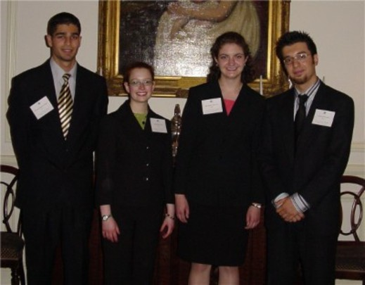 Class of 2004 Fellows: Rajeev David Sibal, Amanda Licht, Jennifer Allison and Ahmad Yilmaz