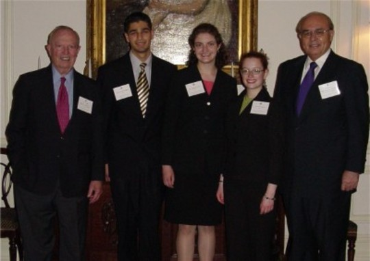 Class of 2004 Fellows with CAA President Ambassador Keith L. Brown and Fellowship Co-Chair Ambassador Abelardo L. Valdez