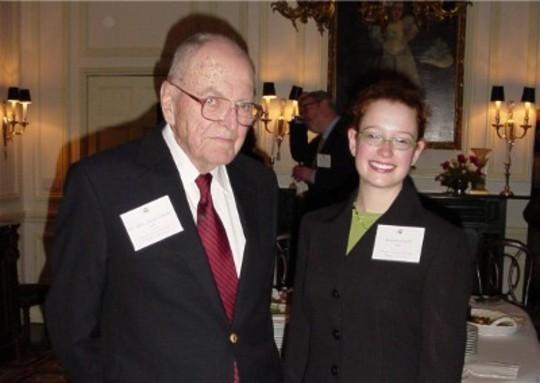 Class of 2004 Fellow Amanda Licht and Lt. Gen. (Ret.) Julian Ewell