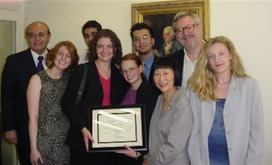 Class of 2004 Fellows, Mentors and CAA Staff at the Graduation Ceremony