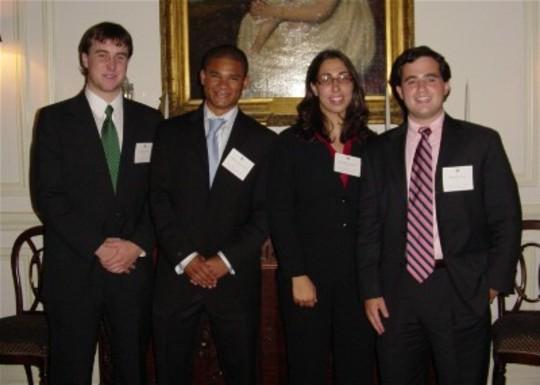 Class of 2005 Fellows David Little, Samuel Semwangu, Gabrielle Maor and Brian Katz
