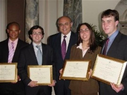 Ambassador Abelardo L. Valdez and the Class of 2005 at their Graduation Ceremony at the Cosmos Club