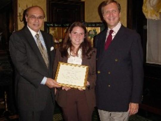 Class of 2006 Fellow Meghan Mahoney and Ambassadors Abelardo L. Valdez and G. Philip Hughes