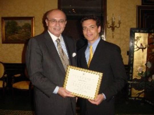 Class of 2006 Fellow James Madsen and Ambassador Abelardo L. Valdez