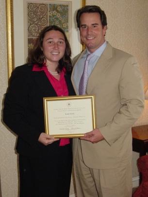 Class of 2007 Fellow Rachel Smith and her Mentor, Ambassador Stuart W. Holliday
