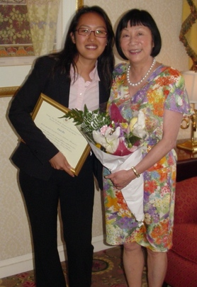 Class of 2007 Fellow Carol Yu and her Mentor, Ambassador Julia Chang Bloch