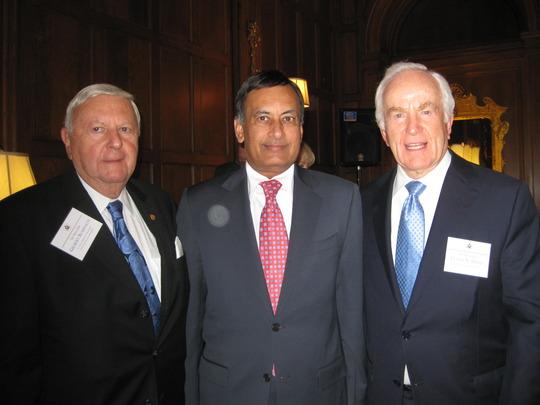 Ambassador Gilbert A. Robinson, H.E. Hussain Haqqani and Ambassador Lloyd N. Hand
