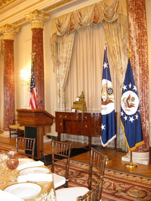 Lectern in the Benjamin Franklin Room of the Department of State