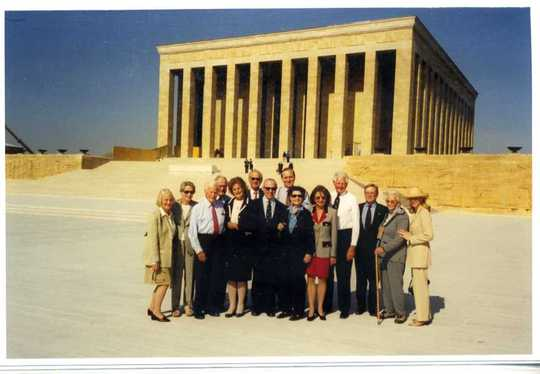 2002 Mission to Turkey and Belgium: Mission delegates in front of the Ataturk Mausoleum in Ankara