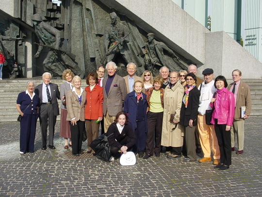 2004 Mission to Poland and Romania: Delegation at the Warsaw Uprising Monument in Poland