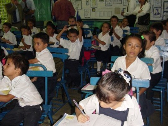 2006 Mission to Venezuela, Colombia and Nicaragua: Students at a UN Model School in Managua, Nicaragua