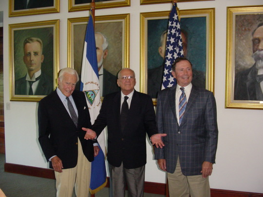2006 Mission to Venezuela, Colombia and Nicaragua: Ambassadors Robert D. Stuart, Jr. and John Price with Nicaraguan President Enrique Bolanos