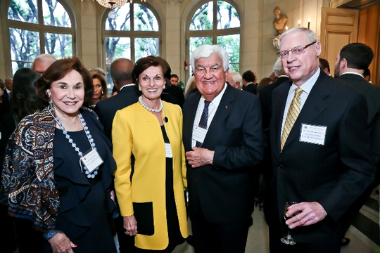 May 6, 2013 Awards Ceremony and Reception: Alma Gildenhorn, Ann Korologos, Ambassador Tom C. Korologos and Ambassador Joseph B. Gildenhorn. Photo credit Tony Powell